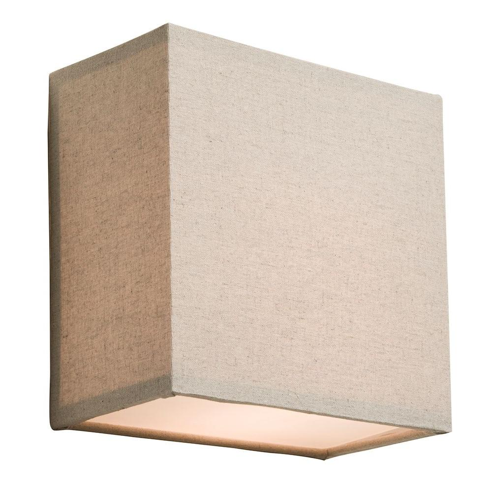 ARTCRAFT Mercer Street 1-Light Chrome Sconce The winning Mercer Street series of beautiful drum shades now has matching square wall bricks in Oat Meal Color