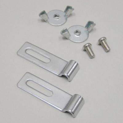 Adapter Brackets for Glidez Under-Cabinet Organizers in Chrome (6-Pack)