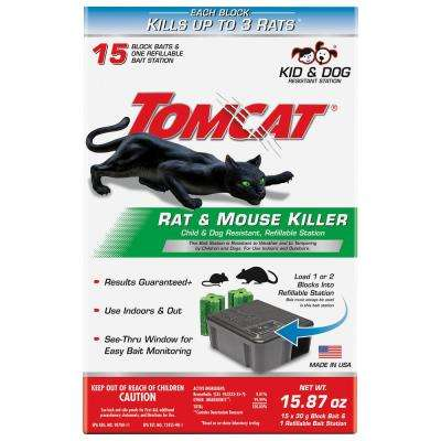 Rat Killer Refillable Bait Station