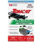 Rat and Mouse Killer Child and Dog Resistant Refillable Station, 1 Station with 15 Baits