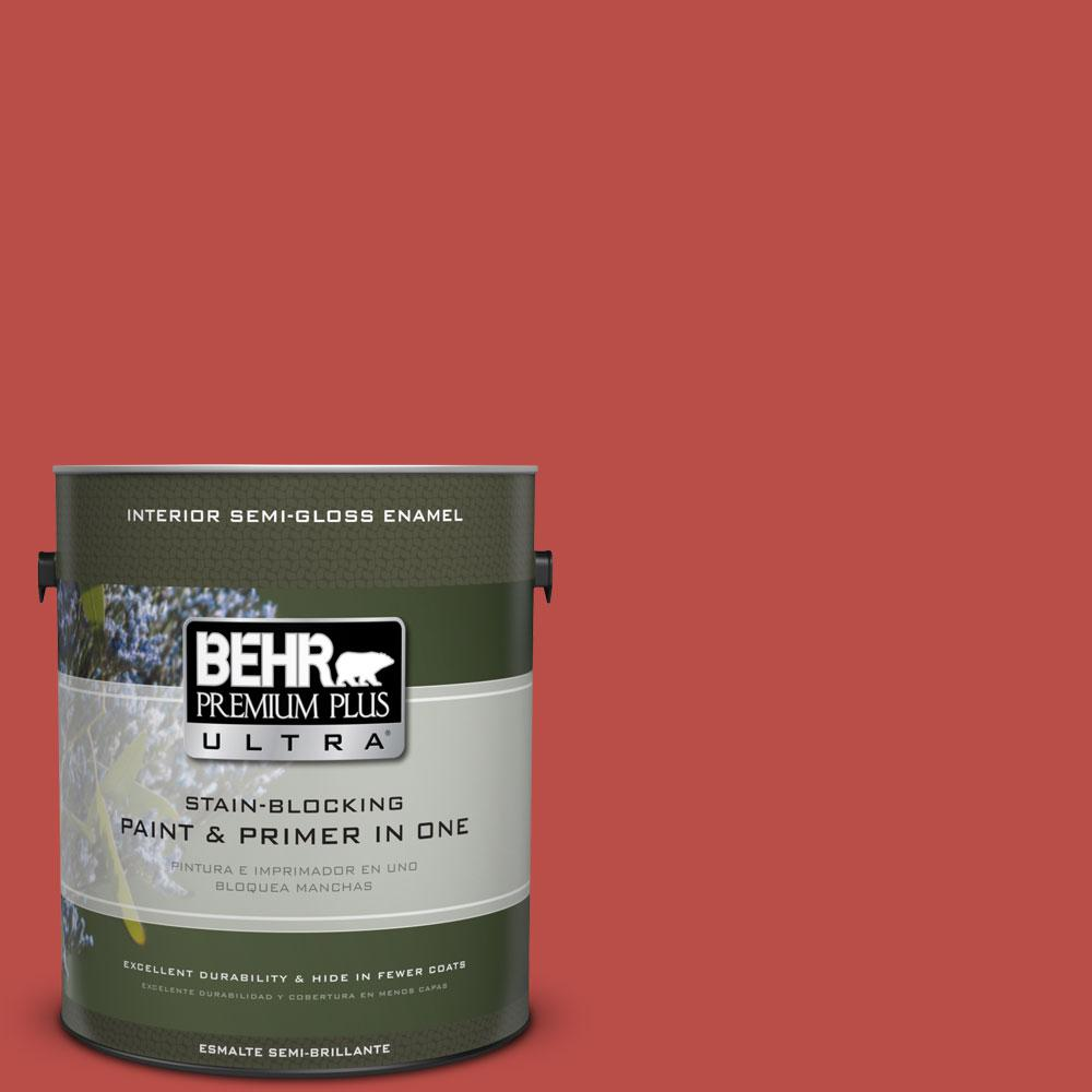 BEHR Premium Plus Ultra Home Decorators Collection 1-gal. #HDC-MD-16 Cherry Red Semi-Gloss Enamel Interior Paint