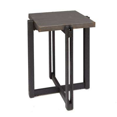 Dakota Bronze Square Metal Top End Table