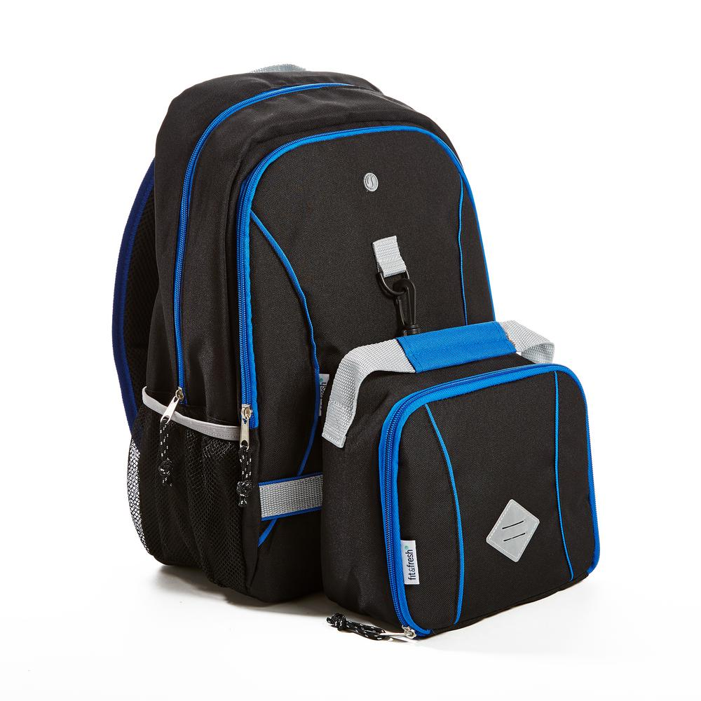 Black Backpack With Matching Insulated Lunch Bag