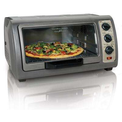 Easy Reach Convection Gray Toaster Oven with Roll-Top Door