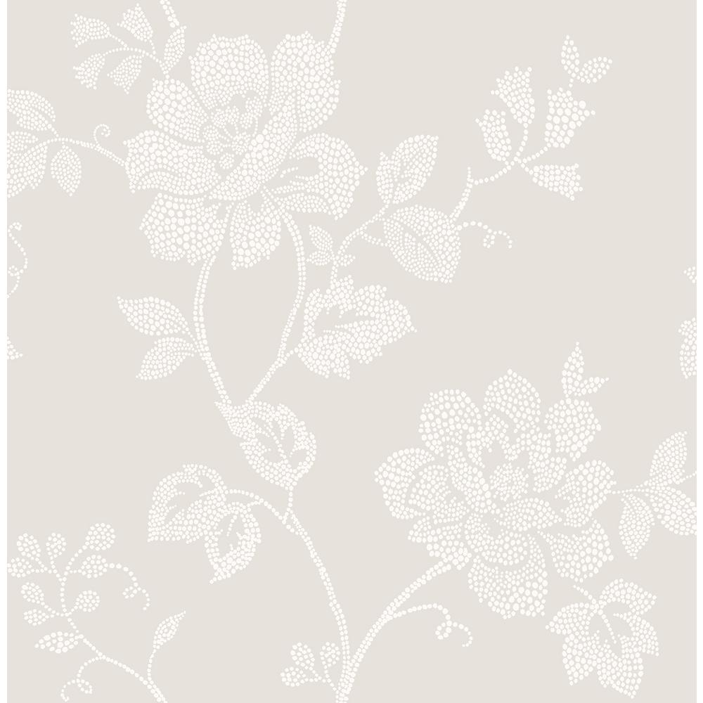 Leonardo Grey Floral Grey Wallpaper Sample