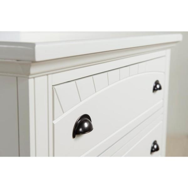 Picket House Furnishings Addison 5 Drawer White Chest Bp700chw The Home Depot