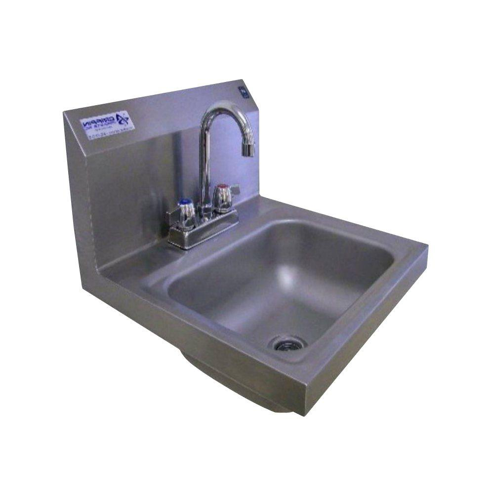 Wall mounted kitchen sinks kitchen sinks the home depot h30 series wall mount stainless steel 17x17x13 in 2 hole single bowl kitchen workwithnaturefo