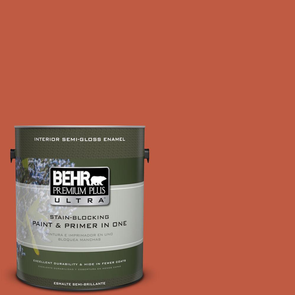 1-gal. #M180-7 Deep Fire Semi-Gloss Enamel Interior Paint