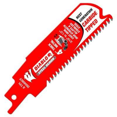 Reciprocating saw blades saw blades the home depot 8 tpi steel demon carbide tipped thick metal cutting reciprocating saw blade keyboard keysfo Image collections