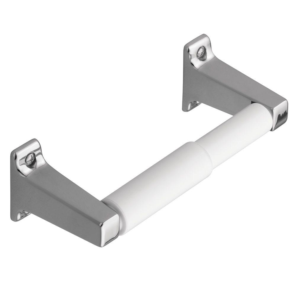 Economy Double Post Toilet Paper Holder in Chrome