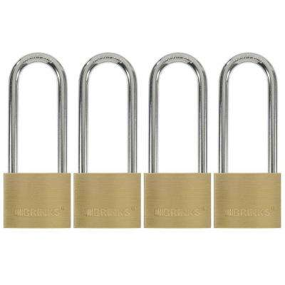 1-9/16 in. (40 mm) Solid Brass Keyed Lock with 2 in. Shackle (4-Pack)