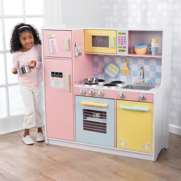 Kidkraft Large Pastel Kitchen Playset 53181 The Home Depot