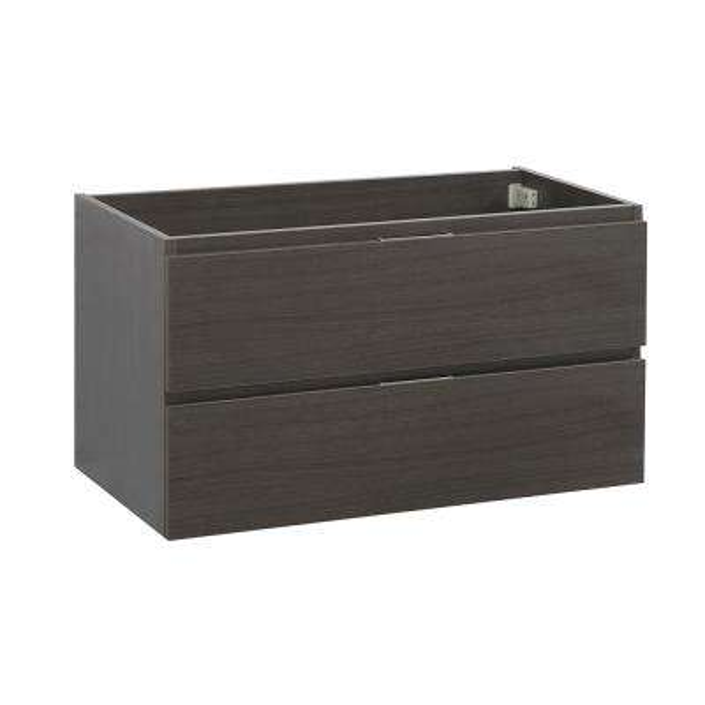 Valencia 36 in. W Wall Hung Bathroom Vanity Cabinet in Gray Oak