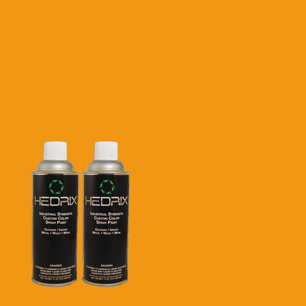 Hedrix 11 oz. Match of 290B-7 Yam Flat Custom Spray Paint (2-Pack)