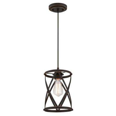 Isadora 1-Light Oil Rubbed Bronze with Highlights Mini Pendant