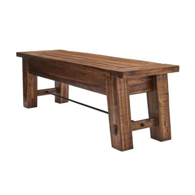60 in. L Durango Brown Wood Entryway/Dining Bench