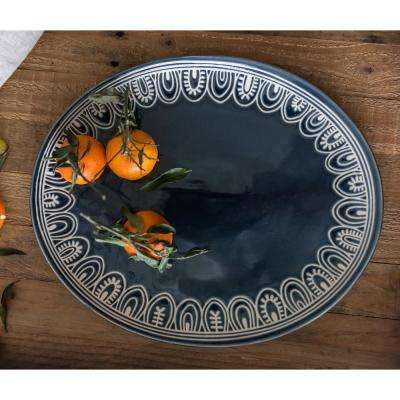 Tribal Oval Serve Platter