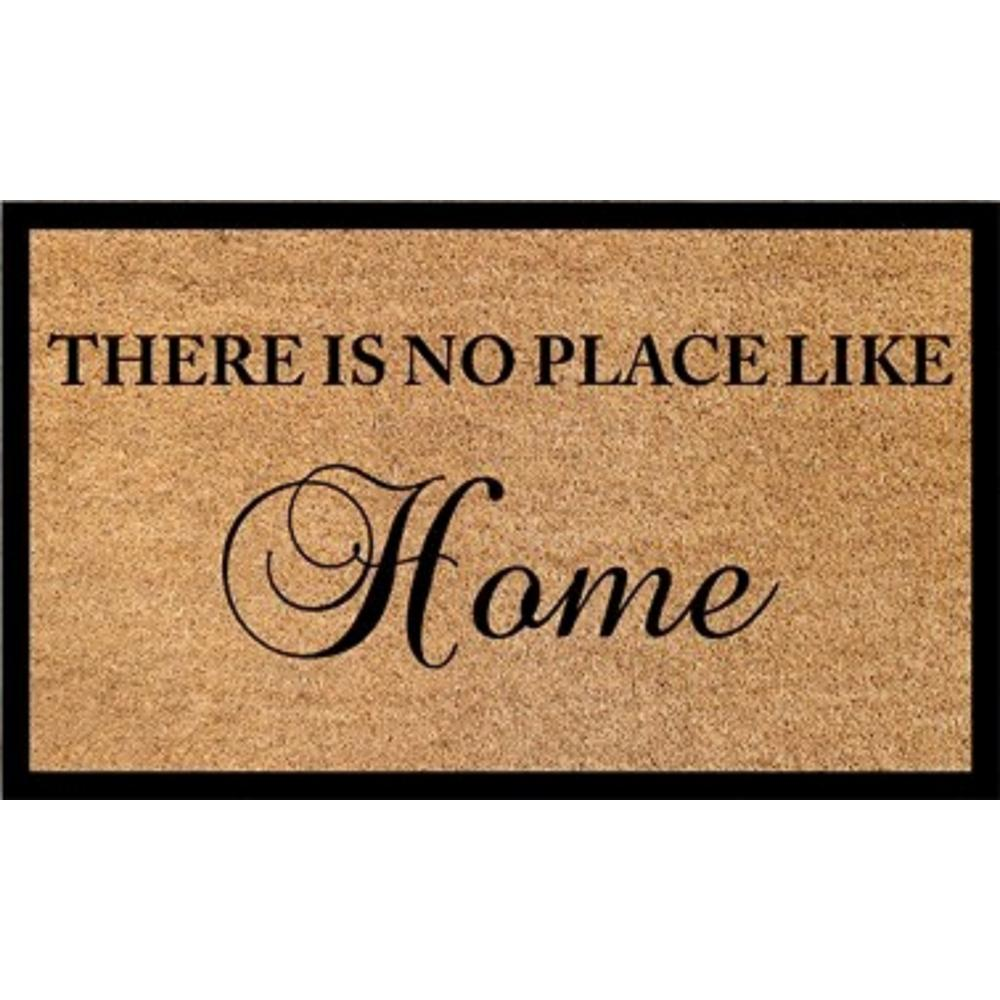dynamic rugs vale there is no place like home 18 in x 30 in door mat va233459190 the home depot. Black Bedroom Furniture Sets. Home Design Ideas