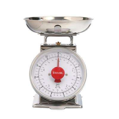 Analog Kitchen Scale in Stainless Steel