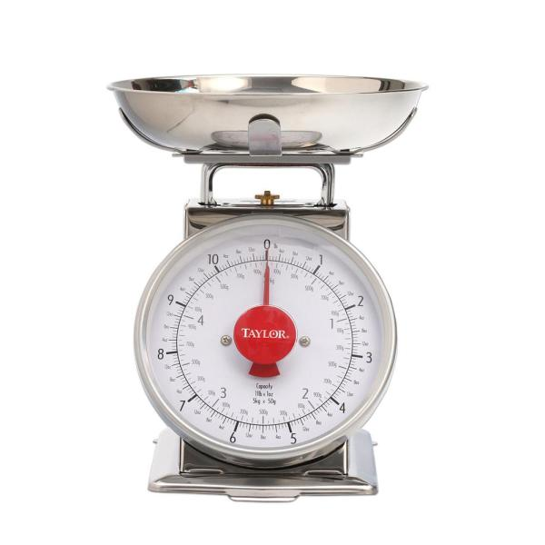 Taylor Analog Kitchen Scale in Stainless Steel
