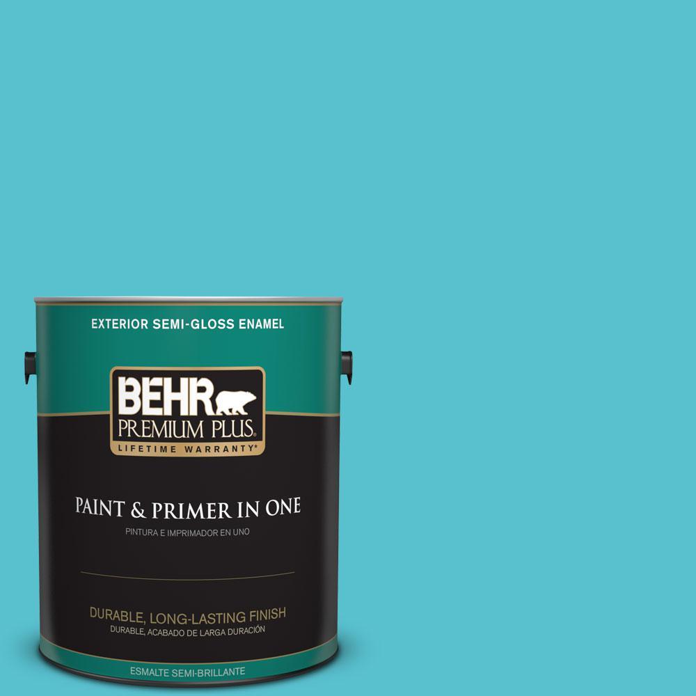1-gal. #510B-5 Jamaican Sea Semi-Gloss Enamel Exterior Paint