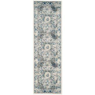 Evoke Gray/Ivory 2 ft. x 17 ft. Runner Rug