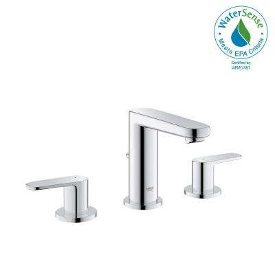 Europlus 8 in. Widespread 2-Handle Low-Arc 1.2 GPM Bathroom Faucet in StarLight Chrome