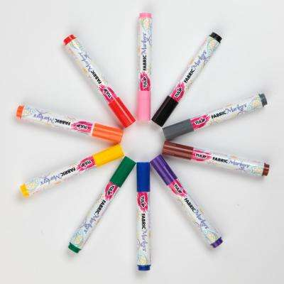 Permanent Nontoxic Fabric Markers Rainbow (10-Pack)