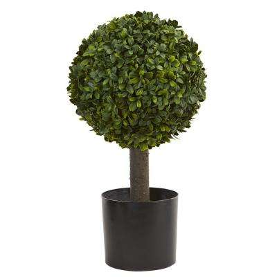 21 in boxwood ball topiary artificial tree