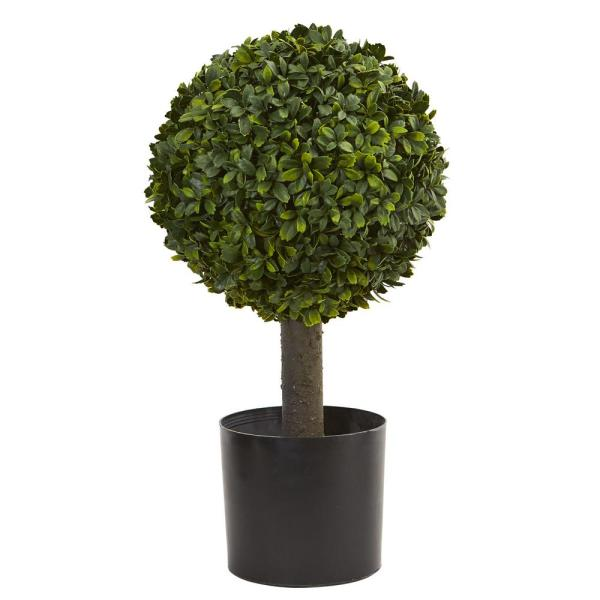 21 in. Boxwood Ball Topiary Artificial Tree