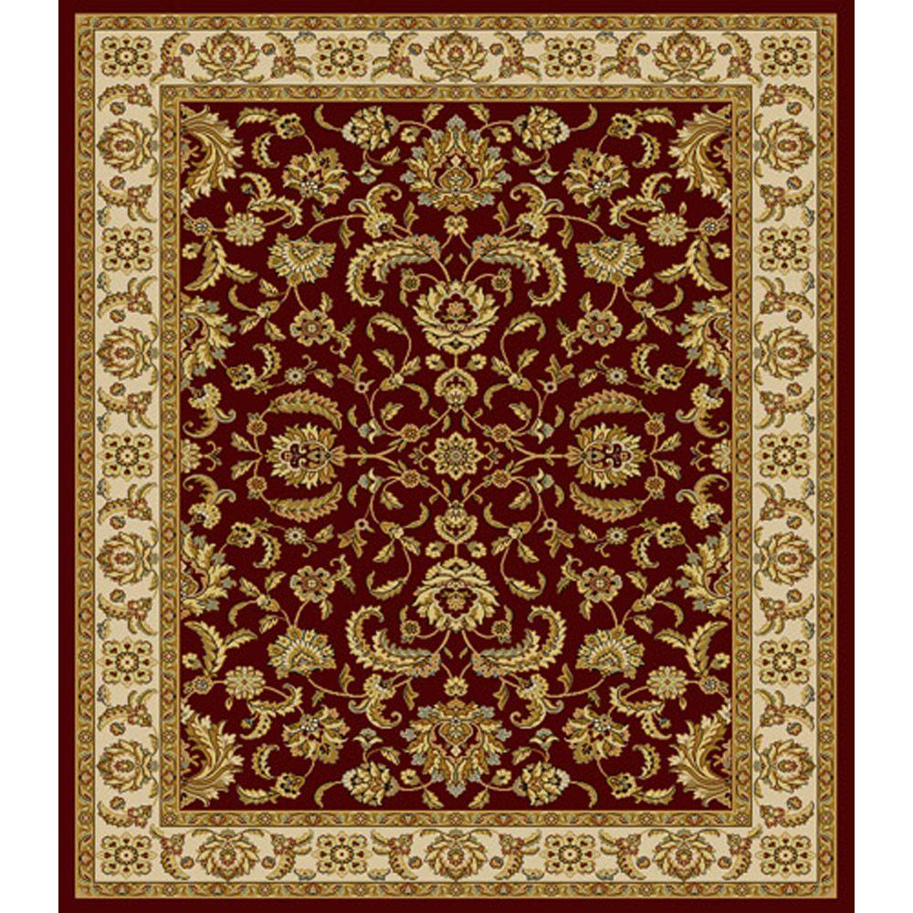 Home Dynamix Bazaar Emy Red/Ivory 7 ft. 10 in. x 10 ft. 1 in. Area Rug - DISCONTINUED