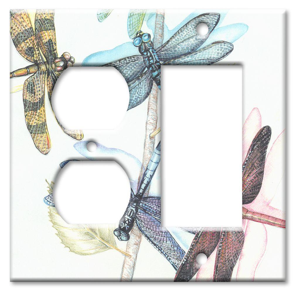 Art Plates Dragonflies Outlet/Rocker Combo Wall Plate
