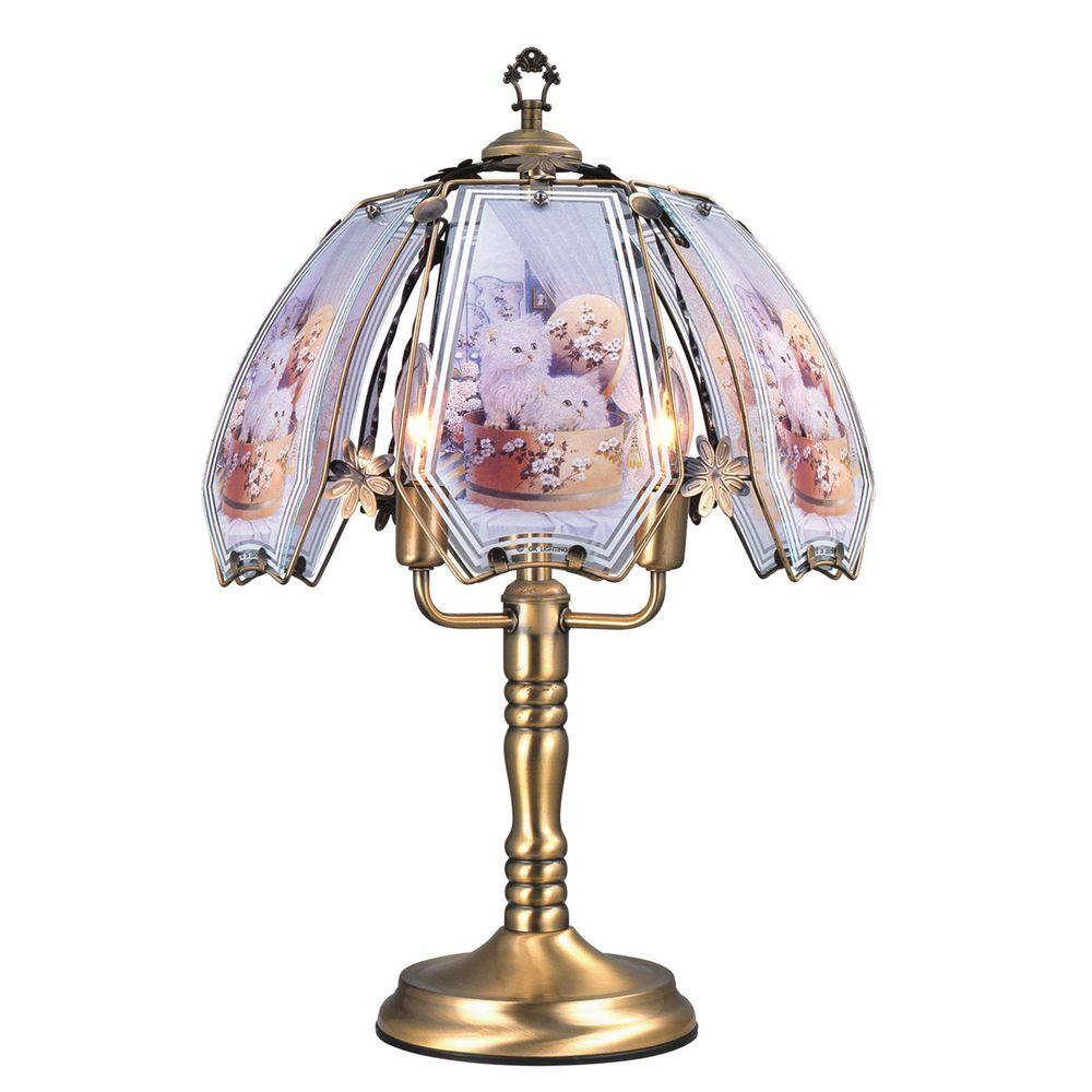 Cats Brushed Gold Touch Lamp