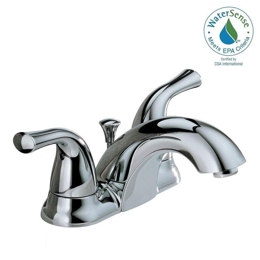 Delta Classic 4 in. Centerset 2-Handle Bathroom Faucet in Chrome