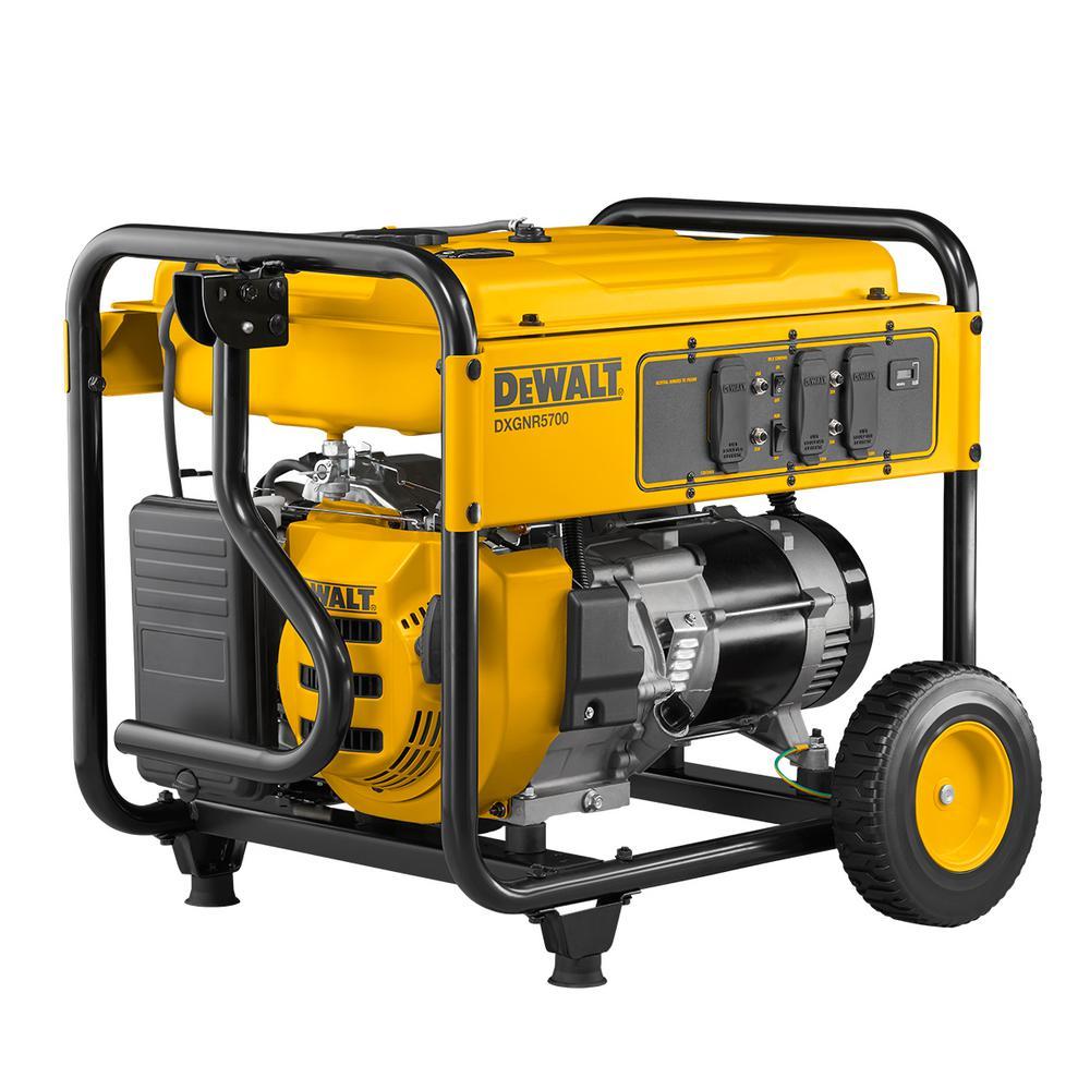 Dewalt 5 700 Watt Gasoline Powered Recoil Start Portable