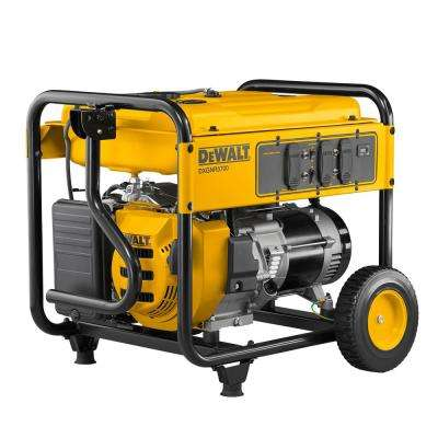 5,700-Watt Gasoline Powered Recoil Start Portable Generator