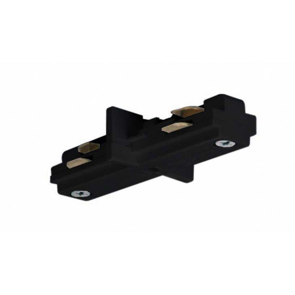 Glomar Black Track Lighting Mini Straight Connector