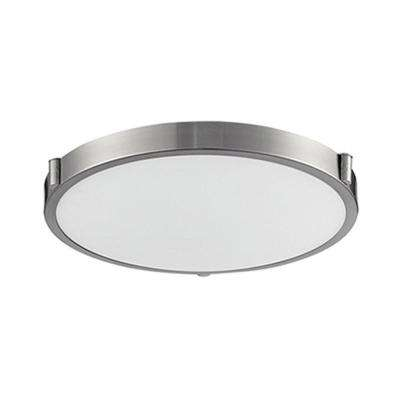 Berkley 40-Watt Equivalence Brushed Nickel Integrated LED Ceiling Flush Mount