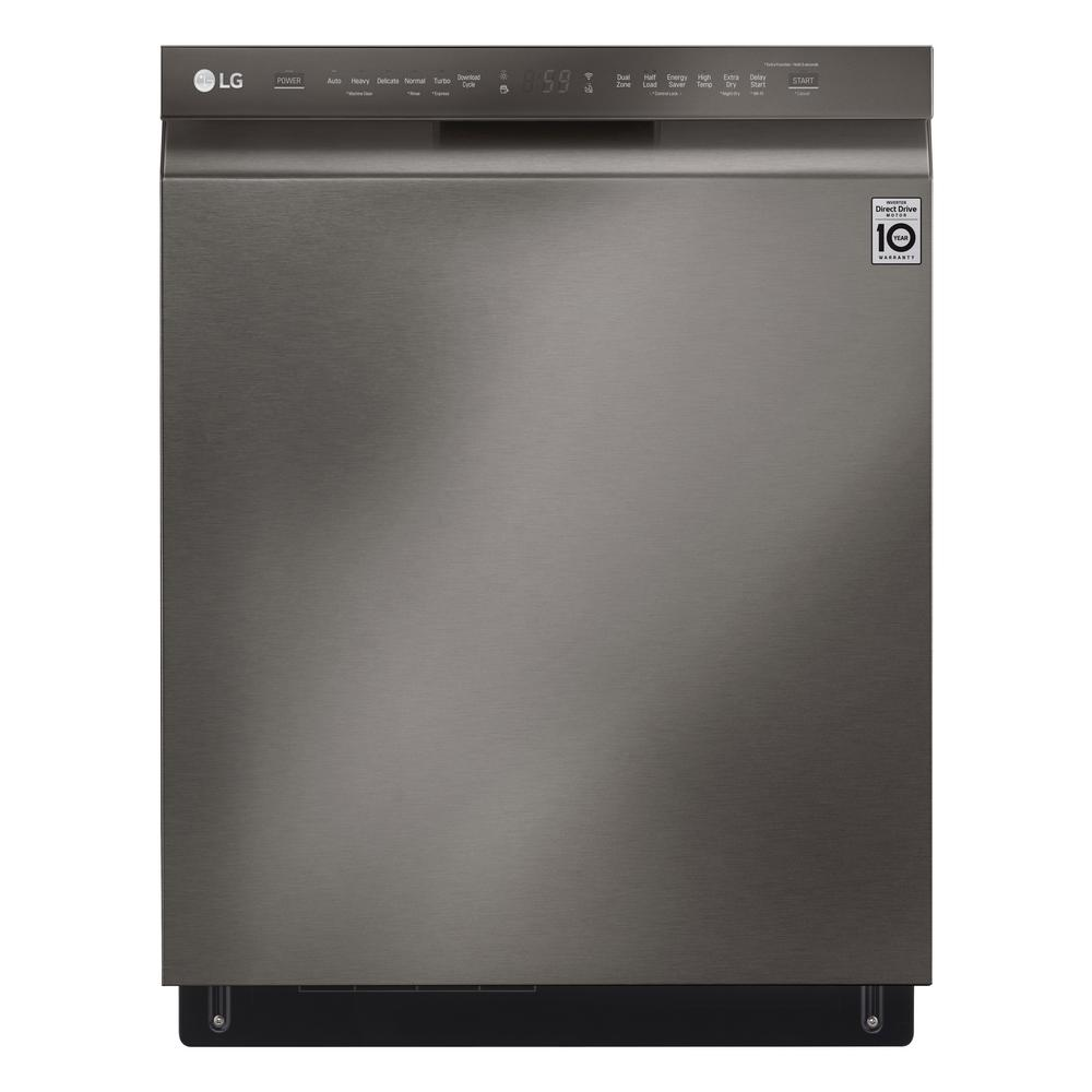 LG Electronics Front Control Tall Tub Smart Dishwasher with QuadWash, 3rd  Rack and Wi-Fi Enabled in Black Stainless Steel, 46 dBA