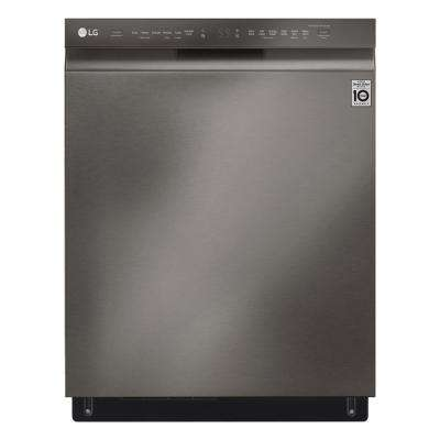 Front Control Tall Tub Smart Dishwasher with QuadWash, 3rd Rack and Wi-Fi Enabled in Black Stainless Steel, 46 dBA