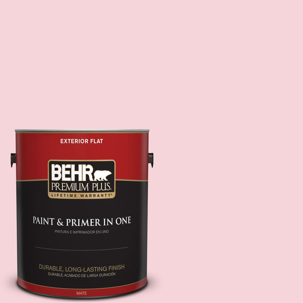 BEHR Premium Plus 1-gal. #120A-3 Lovelight Flat Exterior Paint