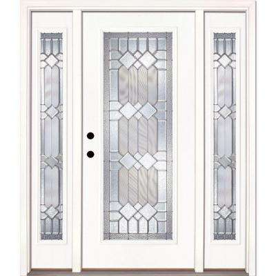 Midcentury Single Door With Sidelites Energy Star Front Doors