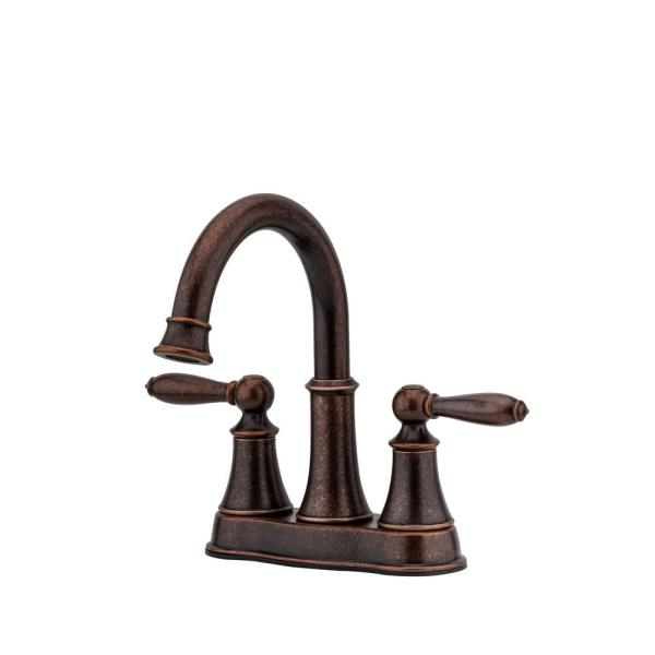 Aged Copper Sinkology SB205-17AG-F042-AMZ Hawking 17 inch Undermount or Drop Bath Sink Pfister Ashfield Faucet and Drain Bathroom All-in-One Kit