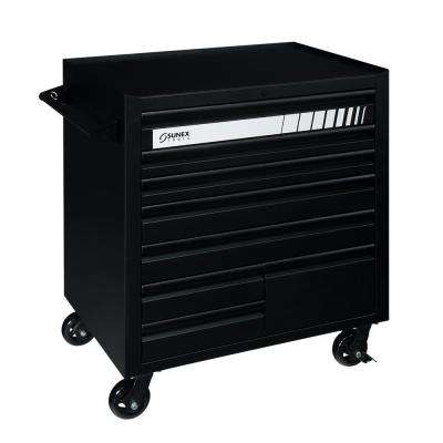 41 in. 8-Drawer Premium Utility Cart in Matte Black