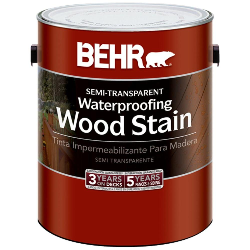 BEHR 1 gal. Redwood Semi-Transparent Waterproofing Wood Stain