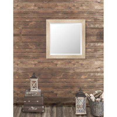 Harrington 29.125 in. x 29.125 in. Reclaimed Heritage Framed Bevel Mirror