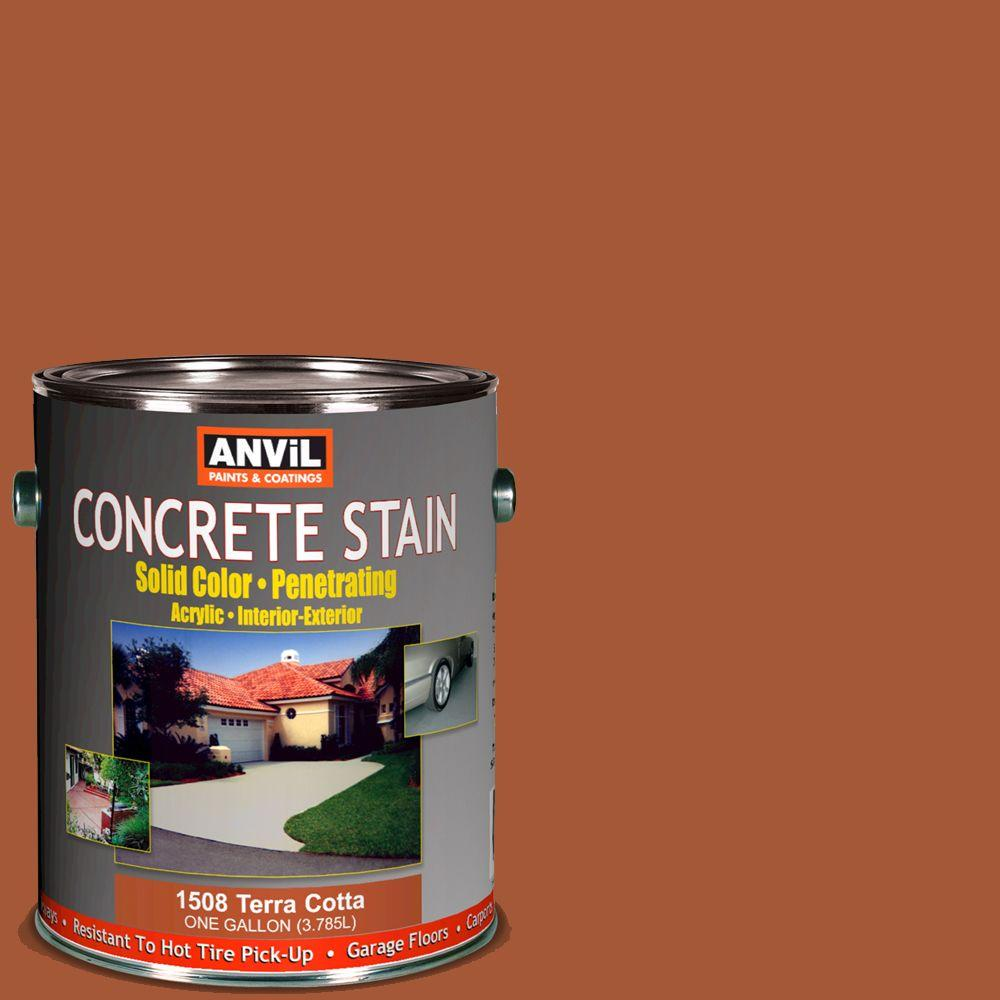 ANViL 1-gal. Terra Cotta Acrylic Solid Color Interior/Exterior Concrete Stain-DISCONTINUED