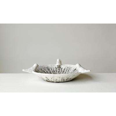 17.75 in. Decorative Bowl in Distressed Terra Cotta