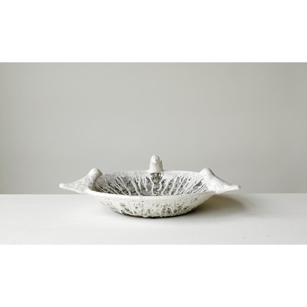 17.75 in. Decorative Bowl in Distressed Terra Cotta
