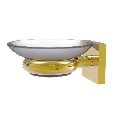 Montero Collection Wall Mounted Soap Dish in Polished Brass